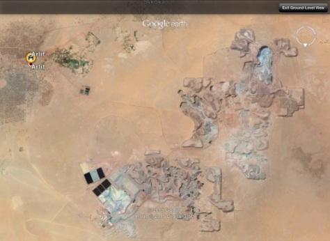 Areva French uranium mine near Arlit Niger