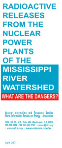 Cover RADIOACTIVE RELEASES FROM THE NUCLEAR POWER PLANTS OF THE MISSISSIPPI RIVER WATERSHED