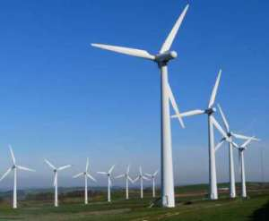 Wind turbines in Azerbaijan.