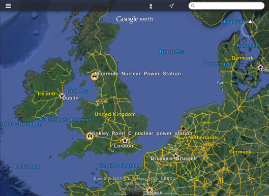 Ireland in relation to proposed British Nuclear Power Stations Hinkley and Moorside