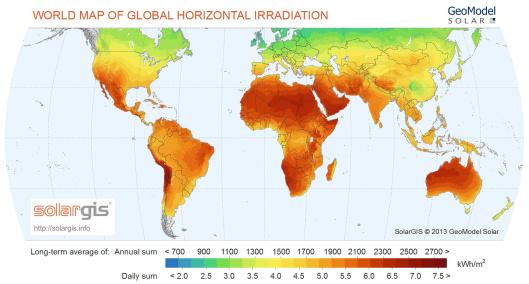 world SolarGIS © 2014 GeoModel Solar