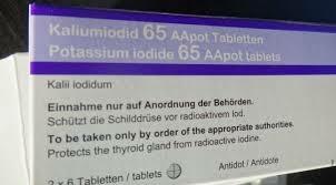 potassium iodine pills