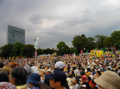 Anti-Nuclear Power Plant Rally on 19 September 2011 at Meiji Shrine Outer Garden Released to Public Domain via wikipedia
