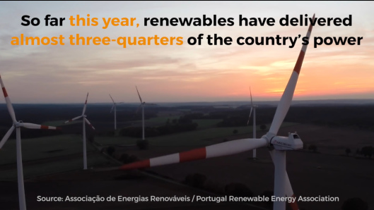 Greenpeace Portugal 2016 almost 2/3rds electricity renewables