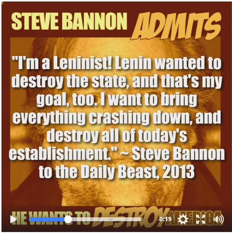 Bannon wants to destroy crash burn everything Indivisible.PNG