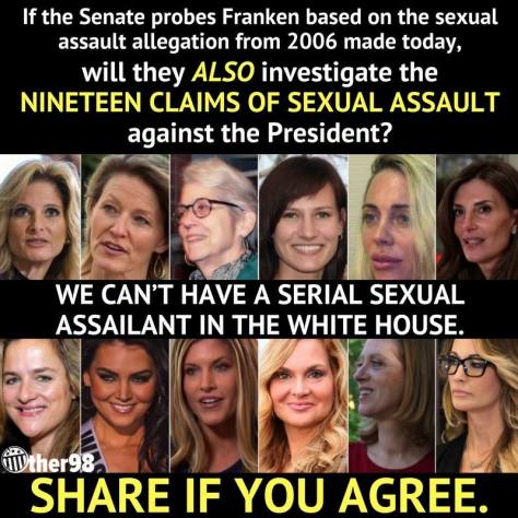 Trump 19 women with claims of sexual assault abuse
