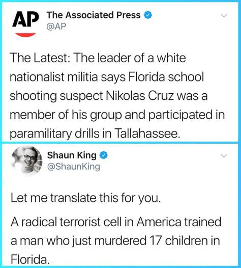 domestic terrorist cell trained racist KKK mass shooter in Florida to kill children as white supremacist The Other 98%