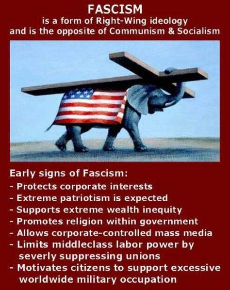 Fascism corporate power Andrew Partheymueller