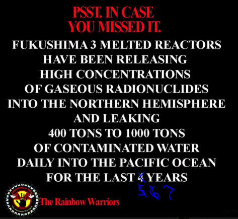 Fukushima leaking 400 tons of radioactive water into pacific never ending
