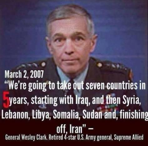 general quote invade war 7 countries libya somalia iraq iran trump ban Republican war agenda Claretha Woods