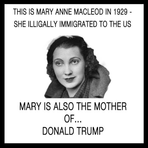 illegal immigrant undocumented mother of donald trump