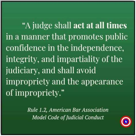 judge shall act independently integrity Kavanaugh Michael Matthew
