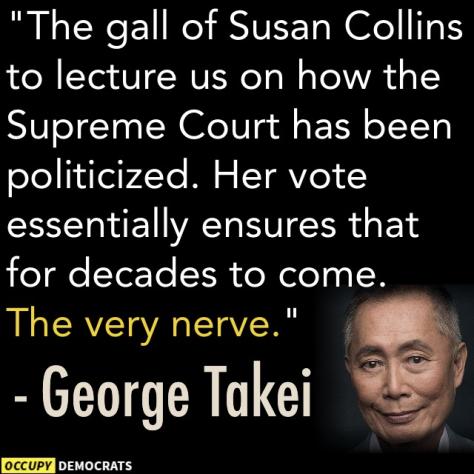 Kavanaugh court politicized Susan Collins quote