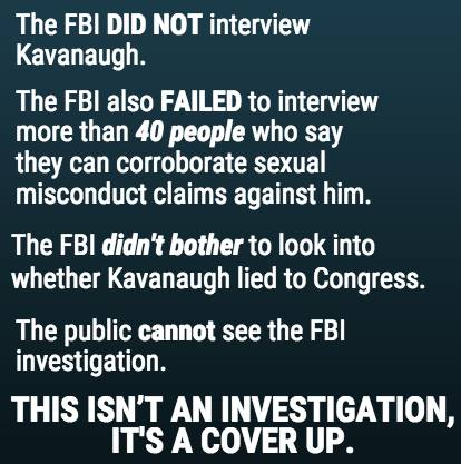Kavanaugh FBI investigation did not talk with 40 witnesses Michael Matthew
