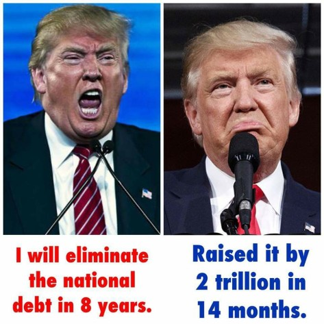 national debt increased under trump by 2 trillion in 14 months Will Davis