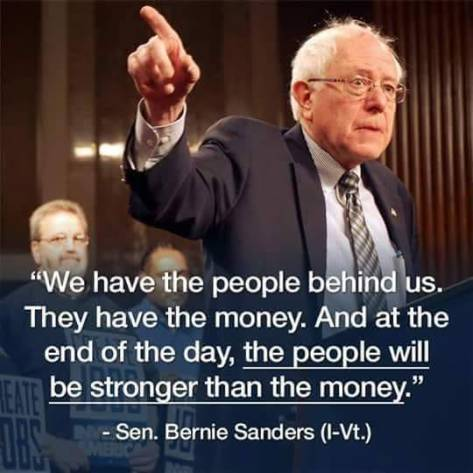 people stronger than money sanders quote Bryan Sanders