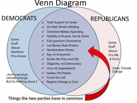 Political Party Democrats Republicans same party no difference Dualopoly Linda Read