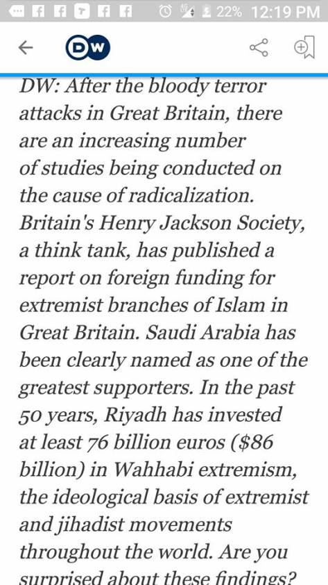 Saudis funding wahhabi extremism jihad education churches Alfredo Nogueira