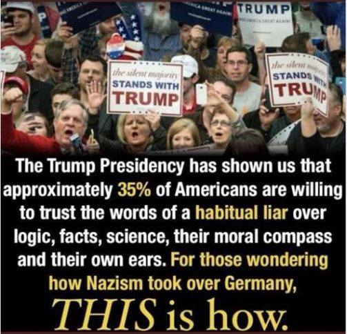 Trump fascism nazis white supremacy following no honor no morals truth lying liars William Miller