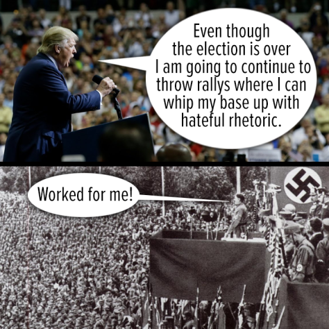 Trump Rally Hitler Rally top bottom The Other 98 Percent