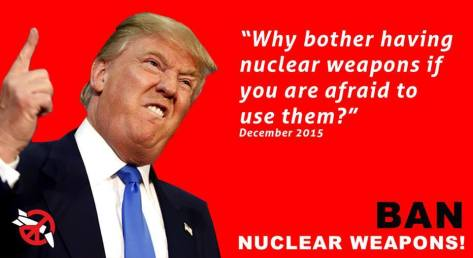 Trump willing to use nuclear weapons bombs phillip george