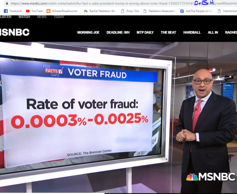 Voter fraud is almost non existent trump lies MSNBC