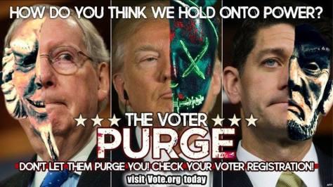 voter purges operation crosscheck Trump McConnell Ryan Michael Matthew